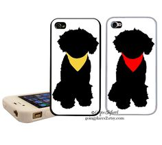 Portuguese Water Dog Silhouette iphone Case fits by GoingPlaces
