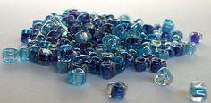 5/0+Shades+of+Blue+Miyuki+Triangle+Bead+by+beadartjewelrysupply,+$2.06