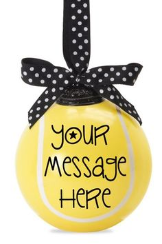 """Your Ad"" Tennis Ball Ornament - Personalize it!"