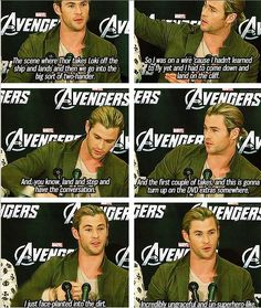 Chris recalls a mishap that happened on the Avengers set.ohmygosh I love u chris HAHAHAHAH