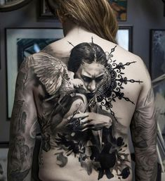 Wonderful full back tattoo by Adrian Lindell – Tattoos – Cozy Places Large Tattoos, Great Tattoos, Unique Tattoos, Beautiful Tattoos, Tattoos Motive, Body Art Tattoos, Girl Tattoos, Sleeve Tattoos, Tattoo Girls