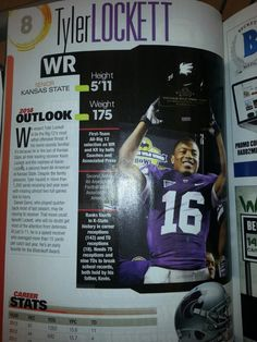 100 top college standouts Lockett ranked number 8 what do they know he is Kansas State University, Kansas State Wildcats, Tyler Lockett, Top Colleges, Number 8, Peace And Love, Comebacks, Growing Up, Coaching