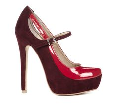 """Sole Society """"Madeline"""" is a Two toned Mary Jane heel with hidden platform. Available in Red, Blush and Cream. Dream Shoes, Crazy Shoes, Cute Shoes, Me Too Shoes, Mary Jane Pumps, Glamour, Beautiful Shoes, Shoe Boots, Women's Shoes"""