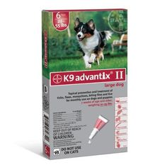 Bayer K9 Advantix II Red 6-Month Flea & Tick Drops for Large Dogs 21-55 lbs.  http://www.amazon.com/Bayer-Advantix-6-Month-Drops-Large/dp/B004QN0M2S/?tag=httpbetteraff-20
