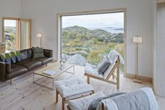 Vega Cottage was designed by Swedish studio Kolman Boye Architects. The house stands on the island of Vega in the Norwegian archipelago . Cabana, Norway House, Norway Design, Norwegian House, Modern Villa Design, Cottage Exterior, Cabin Interiors, Living Spaces, House Design