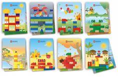 Deze DUPLO bouwvoorbeelden set (duplo education 45080) bestaat uit 8 dubbelzijdige thema-kaarten (schaal 1:1) met leuke inspiratiekaarten voor de kleine bouwers