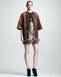 Lanvin - Embellished Leopard Print Shift Dress #15Things #Fashion #Style #Trending #intothewild #Lanvin