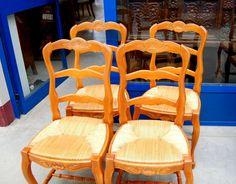Coppia di sedie in noce luigi xvi fine 700 paglia vienna originale