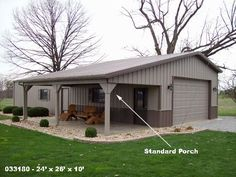 pole barns garage with porches - Google Search