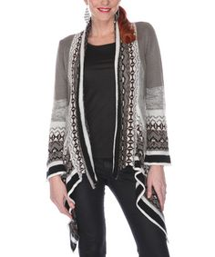 Look what I found on #zulily! Gray Alpine Open Cardigan - Women & Plus by Gizel #zulilyfinds