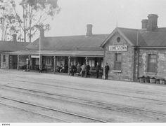 Jamestown Railway Station in South Australia in 1890.