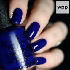 OPI • My Car Has Navy-Gation beautiful navy blue nail polish.