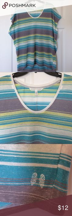 Victoria's Secret Striped Loose Fitting Dream Tee Size Small (but is long and runs very large) / Soft and Casual Short Sleeve T-shirt / In my opinion it would fit sizes 8-10 best Victoria's Secret Tops Tees - Short Sleeve