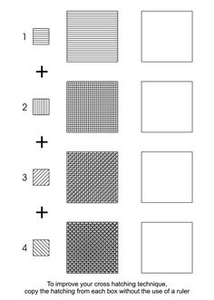 Cross Hatching Worksheet by deidre