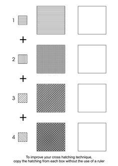 Cross Hatching Worksheet by deidre