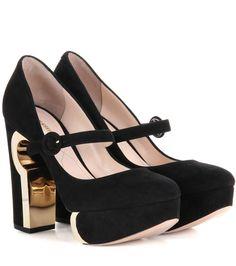 NICHOLAS KIRKWOOD Eyelet Mary Jane suede pumps. #nicholaskirkwood #shoes #pumps