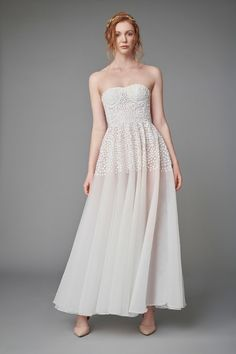 Rita Colson has created this floaty bridal dress fit for a queen **Check out THE DRESS TRIBE to see amazing dresses and find out which boutique stocks them! Tropical Wedding Dresses, Unusual Wedding Dresses, Alternative Wedding Dresses, Colored Wedding Dresses, Designer Wedding Dresses, Bridal Dresses, Bridal Jumpsuit, Queen, Strapless Dress Formal