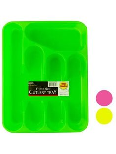 Five Section Plastic Cutlery Tray (Available in a pack of 24)