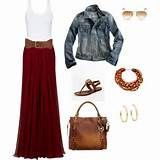 Maxi skirt outfit for fall | How Do It