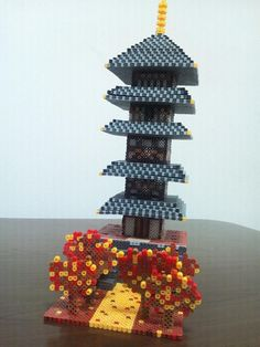 Perler Bead Disney, 3d Perler Bead, Hama Beads Patterns, Beading Patterns, Hama Art, 3d Tree, Peler Beads, 3d Figures, Iron Beads
