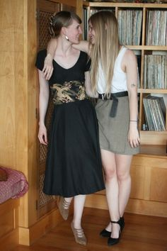 "Garment Sewing Inspiration: Picnic Dress in black with obi-style belt, by Naomi of ""One Avian Daemon"" blog (20 Mar. 2011)"