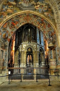 Interior of the Convent of Christ - Tomar