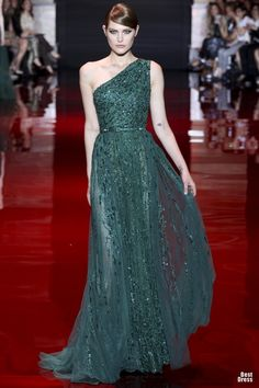 Elie Saab 2013/2014, I am SO in LOVE with her collection! Especially, especially the green!