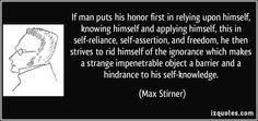 Max Stirner Quote