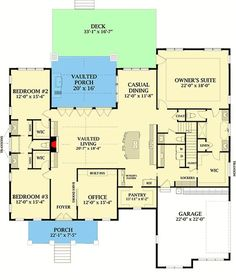 Would want to eliminate a bedroom and move basement stairs to other side of house. Craftsman House Plan with Board and Batten Siding and Bonus Expansion - floor plan - Main Level Best House Plans, Dream House Plans, House Floor Plans, Kitchen Floor Plans, Board And Batten Siding, Murphy Bed Plans, Exterior Siding, Craftsman House Plans, Farmhouse Plans