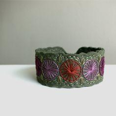 Wool Felt Headband // Hand Embroidered // Heather & Olive // LoftFullOfGoodies, via Etsy.