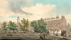 242. Claremont Square, c.1850, showing the south-west corner of reservoir with header pipe.  Amwell Street and Myddelton Square area | British History Online