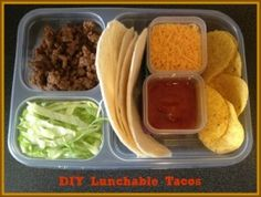 school lunch idea: diy taco lunchable