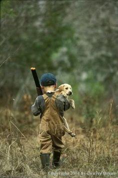 Me encanta cazar con mi perro