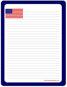 Flag writing paper