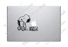 Snoopy Reading and Studying Vinyl Decal Sticker by thevinylwall, $7.00
