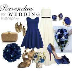 Harry Potter Ravenclaw Themed Wedding Dresses, Shoes, Flowers, Jewelry And Accessories