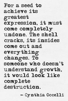 Growth...not destruction