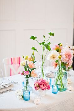 garden flowers....I love this for an outdoor spring/summer wedding