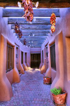 A Path Between Shops In Old Town Albuquerque Leads To A Door And Greater Albuquerque   Photo By Steven Ainsworth