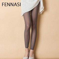 2881a4b65f FENNASI Sexy Women Summer Thin Tights High Elasticity Mesh Soft Pantyhose  White Breathable Casual Stockings Female