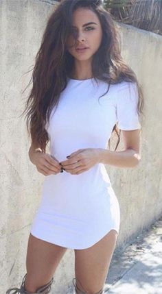 Fashion Bodycon Skinny Scoop Short dresses