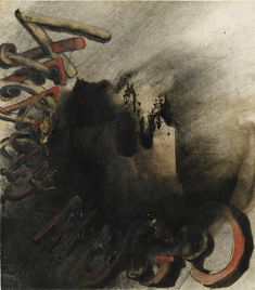 Victor Hugo, Nocturne, Modern Art, Auction, Watercolor, Ink, Landscape, Drawings, Prints
