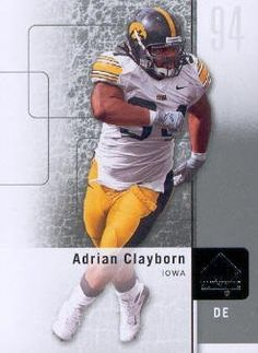 2011 Upper Deck SP Authentic Football #77 Adrian Clayborn Iowa NCAA Trading Card by SP Authentic. $1.99. 2011 Upper Deck Co. trading card in near mint/mint condition, authenticated by UpperDeck