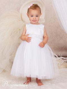 ALINA - Himmlisches Festkleid in Weiß - Alles für die Taufe & Kommunion bei Princessmoda.de