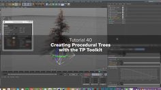 """In this video we are going to talk about using the TP Toolkit Pro to create Trees in Cinema 4D. Use the coupon code """"tptree"""" to save 10% on the TP Toolkit at checkout! http://www.thinkparticle.com/product/think-particle-tp-toolkit-pro-2 The TP Toolkit Pro is used in this video to explain how to generate complicated branching systems with splines and sweep nurbs. By the end of this tutorial you should be able to generate a fantastic forest to cover an entire continent!"""