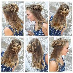 Love this subtlè #ombre & fun #braid created by Riley! #cowanhair #cowanbraids