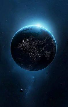 Night side of Earth; our amazing planet Cosmos, Mother Earth, Mother Nature, Digital Foto, Images Gif, Space And Astronomy, Earth From Space, To Infinity And Beyond, Deep Space