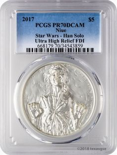 2016 $2 Niue 1 oz Han Solo Silver Proof High Relief  NGC PF70 UCAM-FR