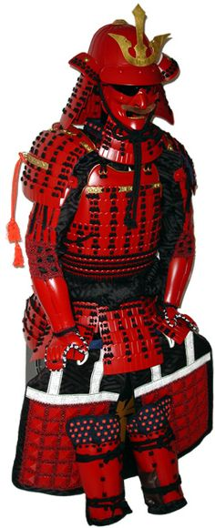 #RED |  Iyo red plate armor equipped #Japan #samuraiGL1 赤備伊予板鎧