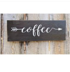 Inspiration: coffee arrow sign